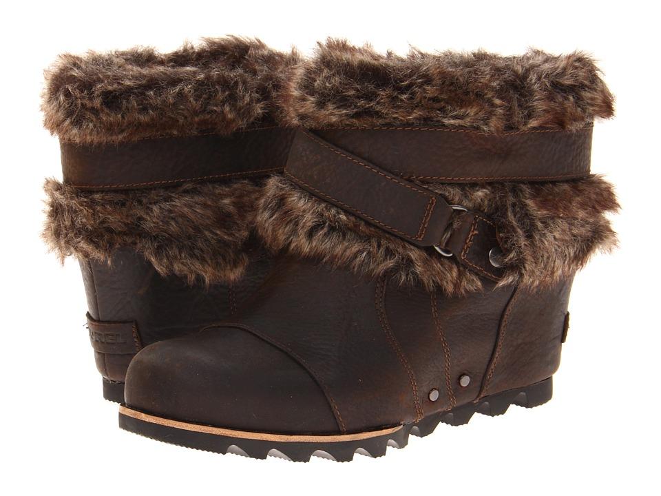 Image of SOREL Joan Of Arctic Wedge Ankle (Dark Brown) Women's Waterproof Boots