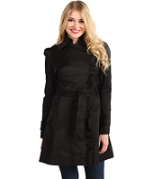 Jessica Simpson - Asymmetrical Zip Trench Coat w/Ruffle