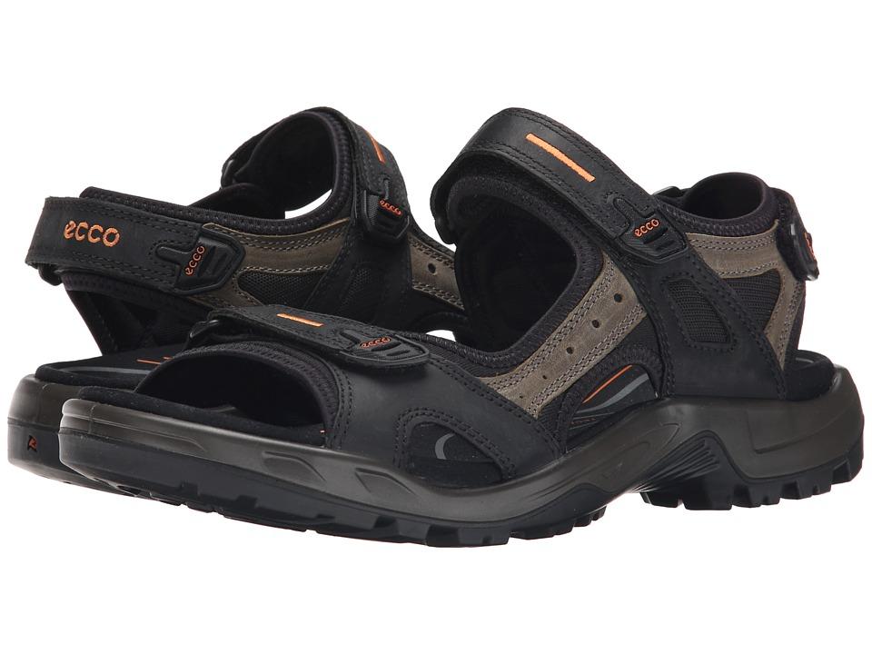ECCO Sport Yucatan Sandal (Black/Mole/Black) Men
