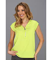MICHAEL Michael Kors - V-Neck Zip T-Shirt