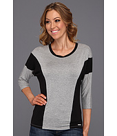 MICHAEL Michael Kors - 3/4 Sleeve Colorblack Top