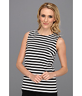 MICHAEL Michael Kors - Stripe Ponte Sleeve Zip Top