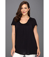 MICHAEL Michael Kors Plus - Plus Size Flutter Sleeve Pleat Top