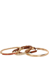 GUESS - 4 Piece Wood and Metal Bangle Set