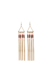 GUESS - Fringe Linear Earrings w/ Wood Beads