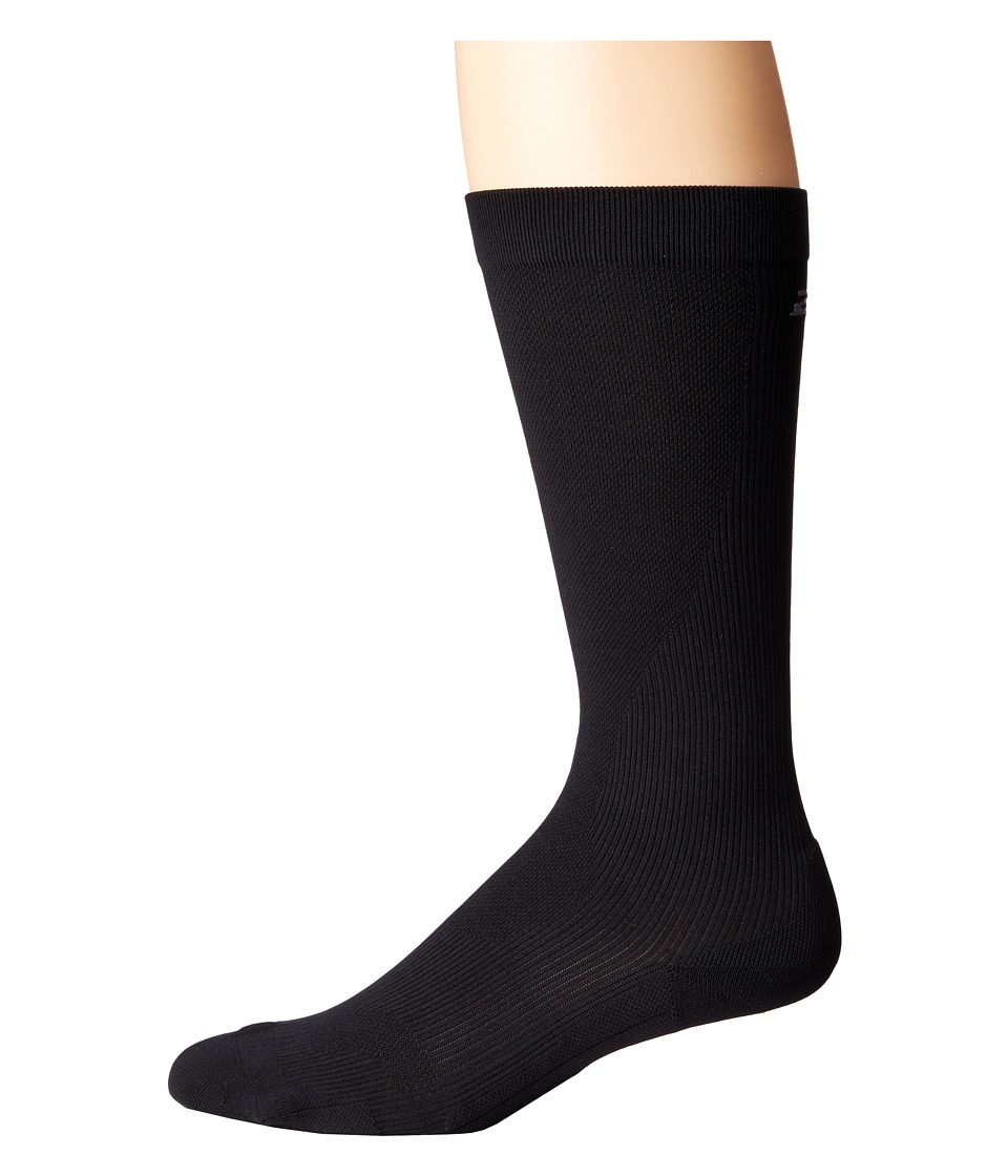 2XU - Compression Performance Run Sock (Black/Black) Mens Knee High Socks Shoes