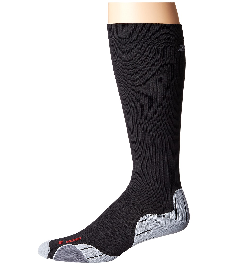 2XU - Compression Recovery Sock (Black/Black) Mens Knee High Socks Shoes