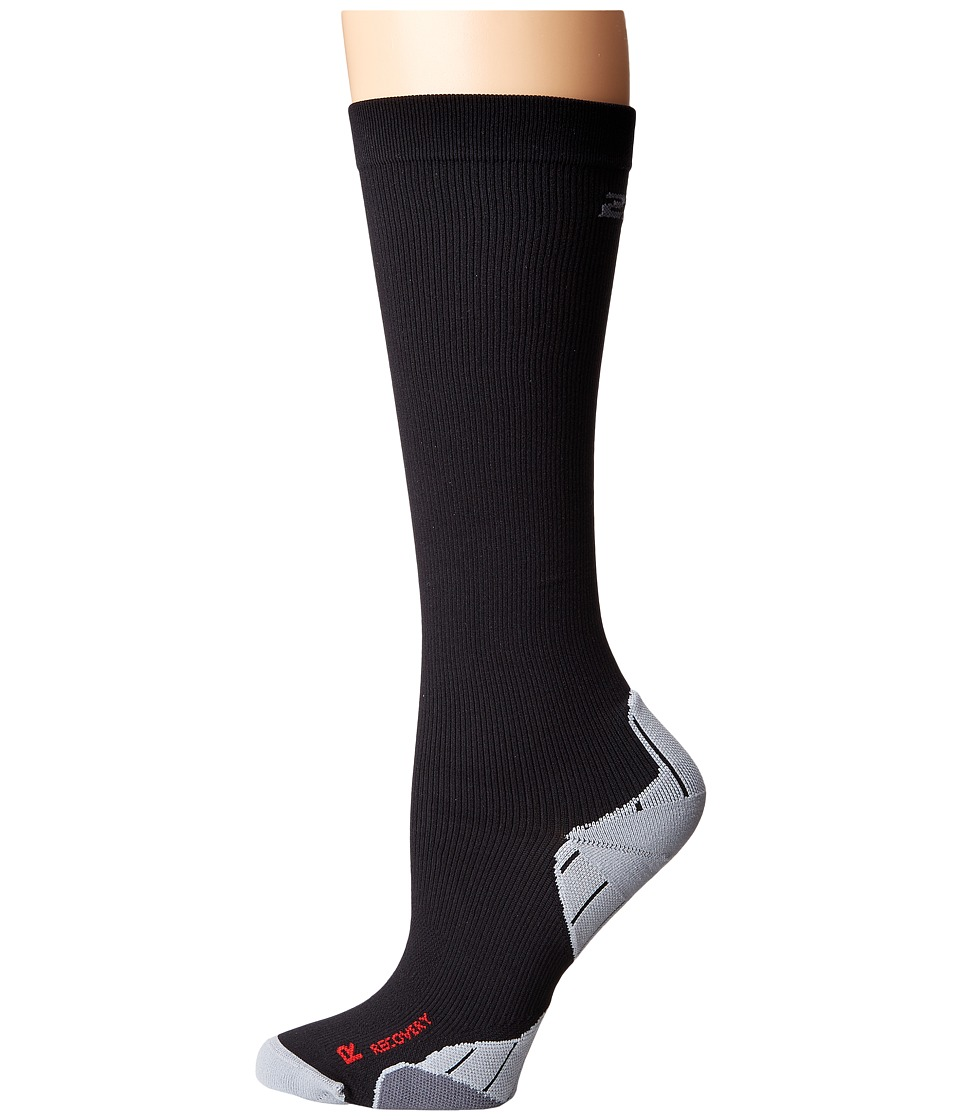 2XU Compression Recovery Sock Black/Black Womens Knee High Socks Shoes