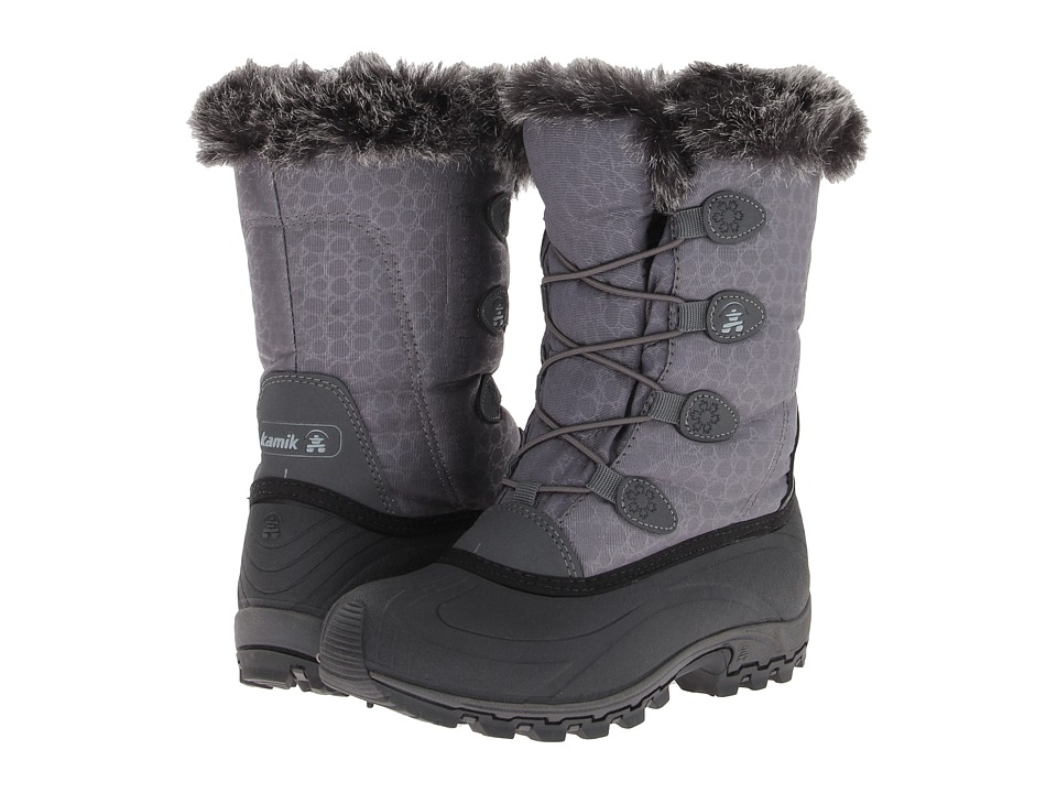 Kamik Momentum Charcoal Womens Cold Weather Boots