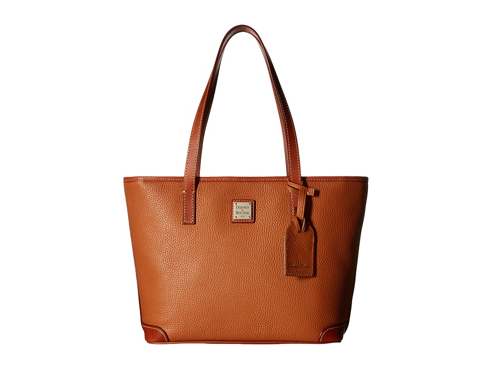 Dooney amp Bourke Charleston Shopper Caramel Tote Handbags