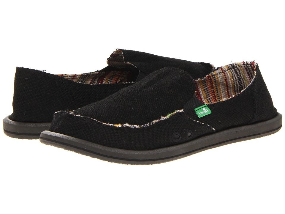 Sanuk Donna Hemp (Black) Slip-On Shoes