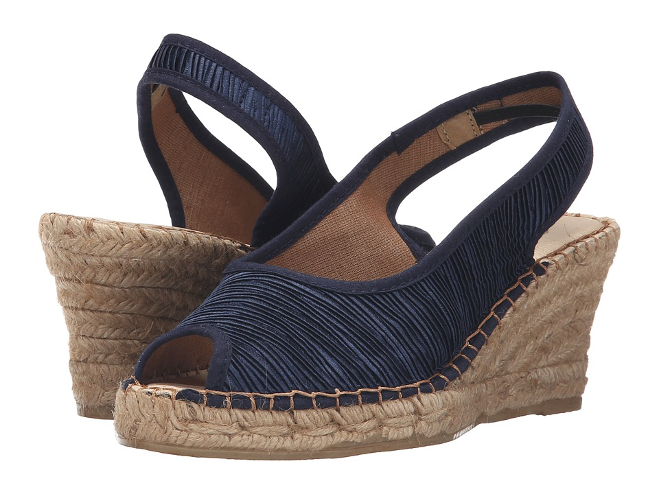 Spring Step - Jeanette (Navy Textile) Women's Wedge Shoes