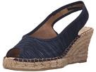 Spring Step - Jeanette (Navy Textile)