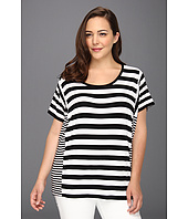 MICHAEL Michael Kors Plus - Plus Size Cab Strip Paneled Tee