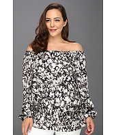 MICHAEL Michael Kors Plus - Plus Size Wild Flower Peasant Top