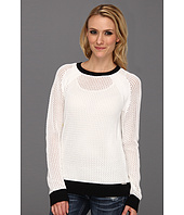 MICHAEL Michael Kors - Mesh Longsleeve Colorblocked Sweater