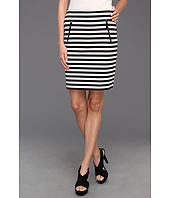 MICHAEL Michael Kors - Ponte Stripe Zip Pocket Skirt