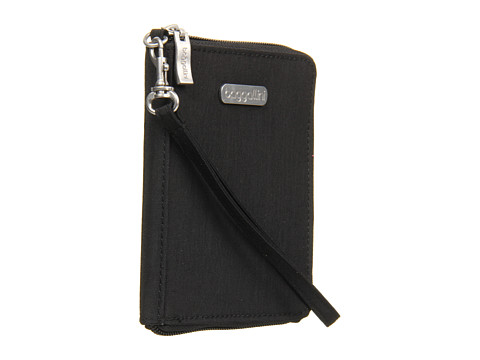Baggallini Passport Case - Black/Khaki