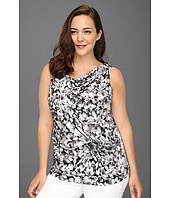 MICHAEL Michael Kors Plus - Plus Size Wildflower S/L Drape Top