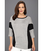 MICHAEL Michael Kors Plus - Plus Size 3/4 Sleeve Colorblock Top