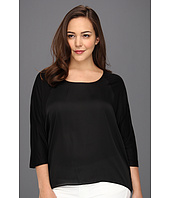 MICHAEL Michael Kors Plus - Plus Size S/S Woven Panel Top