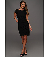 DKNYC - Cap Sleeve Dress w/ Side Drape