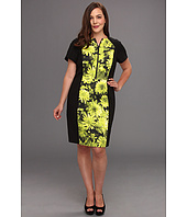 MICHAEL Michael Kors Plus - Plus Size English Garden S/S Zip Dress