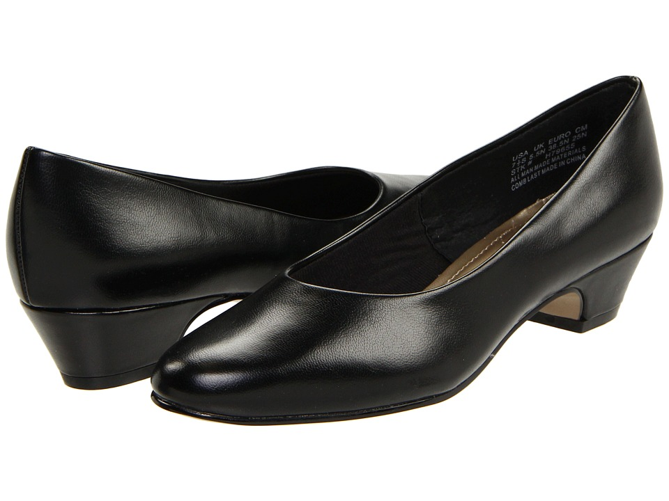 Soft Style Angel II (Black Smooth) 1-2 inch heel Shoes