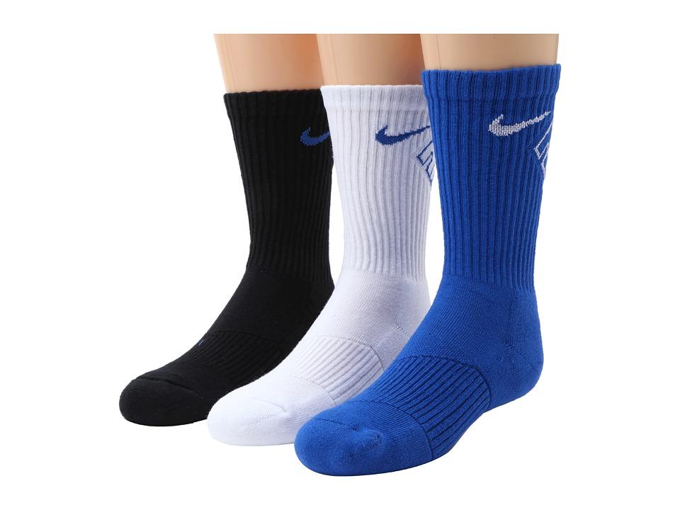 Nike Kids - Graphic Cotton Cushion Crew 3-Pair Pack (Little Kid/Big Kid) (Game Royal/White/Game Royal/White/Black/Game Royal) Boys Shoes