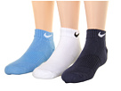 Nike Kids Cotton Cushion Moisture Management Low Cut 3-Pair Pack