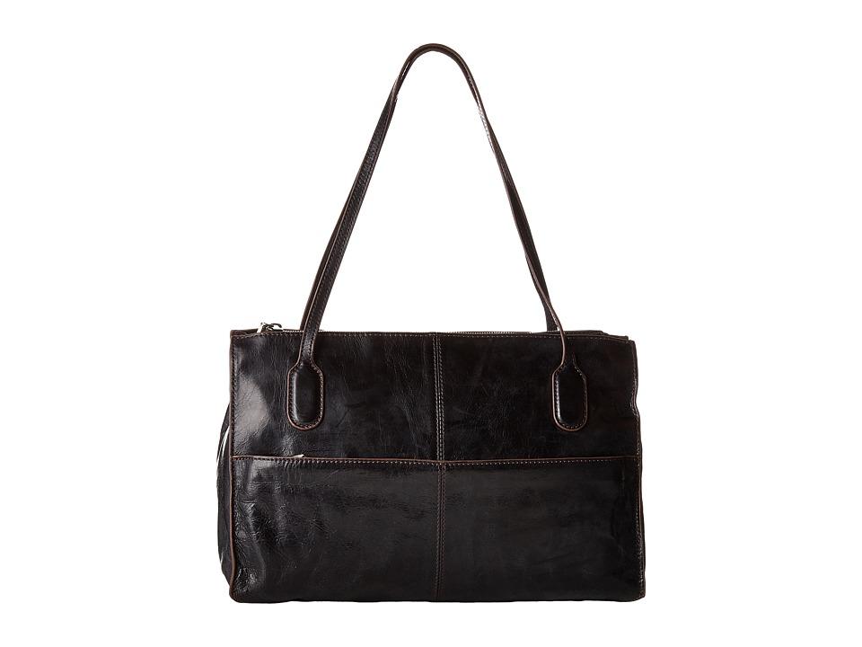 Hobo - Friar (Black Vintage Leather) Shoulder Handbags