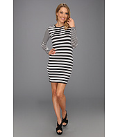 MICHAEL Michael Kors - Carnaby Stripe Longsleeve Dress