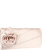 Jessica McClintock - Satin Floral Quarter Flap