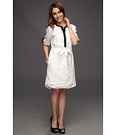 DKNYC - 3/4 Roll Tab Sleeve Dress