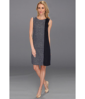 DKNYC - Sleeveless Crewneck Dress w/ Contrast Side Panel