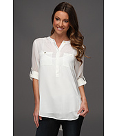 DKNYC - Long Roll Slv Blouse W. C
