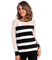 DKNYC - Long Sleeve Boatneck Striped Pullover