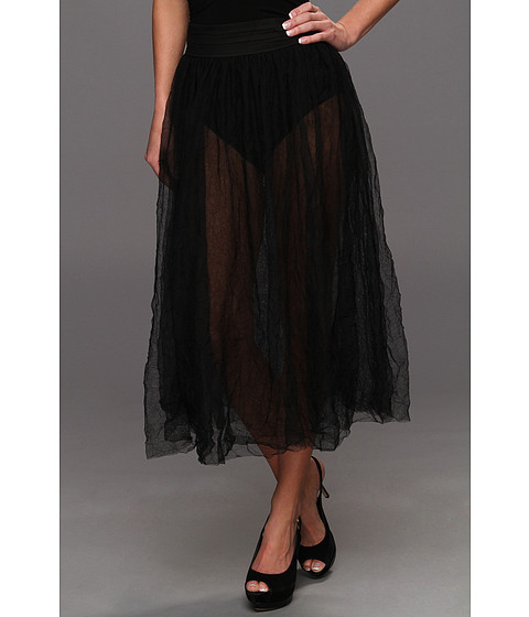 Free People - Raw Tulle Skirt (Black) - Apparel