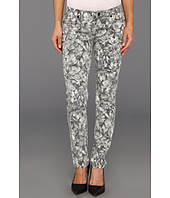 MICHAEL Michael Kors Petite - Petite Wildflower Ankle Skinny Jean in Black