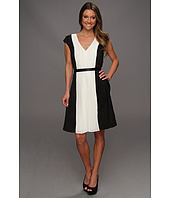 DKNYC - Cap Sleeve Colorblock Pleat Dress