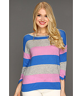 C&C California - 3/4 Sleeve Boat Neck Sweater