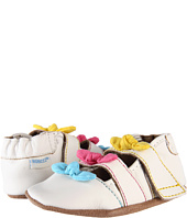 Robeez - Sandal White w/ Brites Soft Soles (Infant)