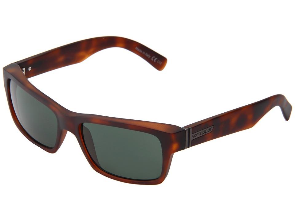 VonZipper - Fulton (Tortoise) Plastic Frame Sport Sunglasses