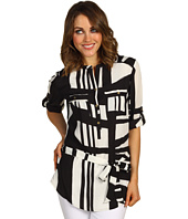 Calvin Klein - Printed Tunic w/ Self Belt