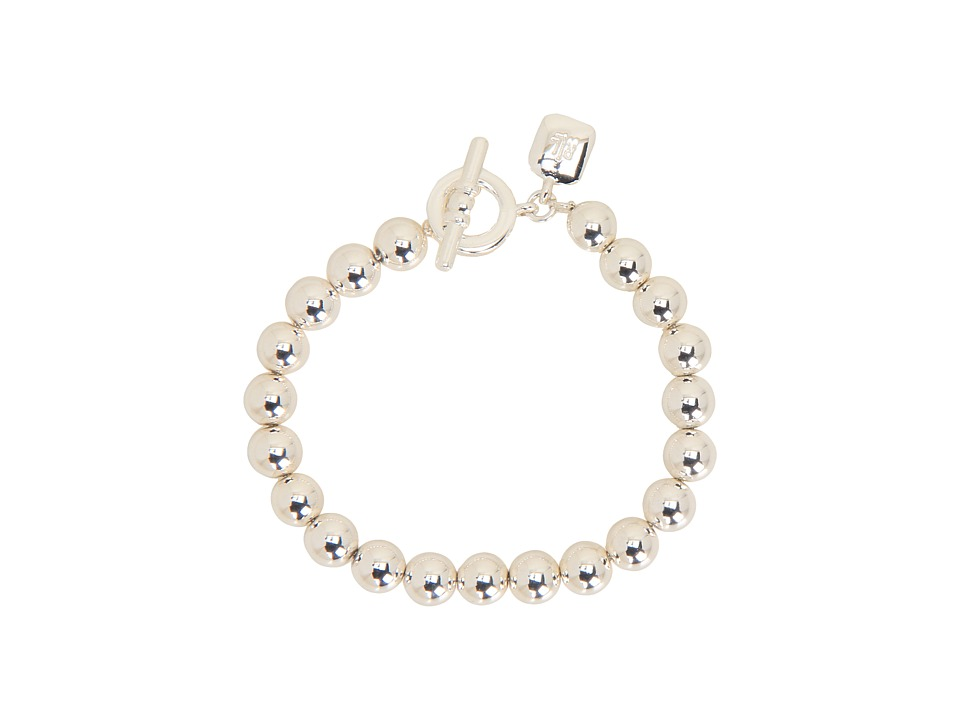 LAUREN Ralph Lauren - 8MM Beaded Bracelet w/Toggle (Silver) Bracelet