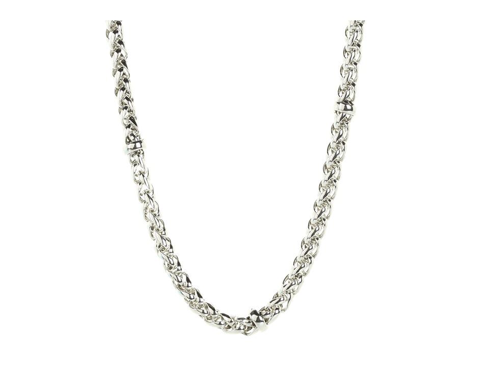 LAUREN Ralph Lauren - 18 Braided Chain Necklace (Silver) Necklace