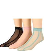 Kate Spade New York - Sheer Stripe Anklet (3 Pack)