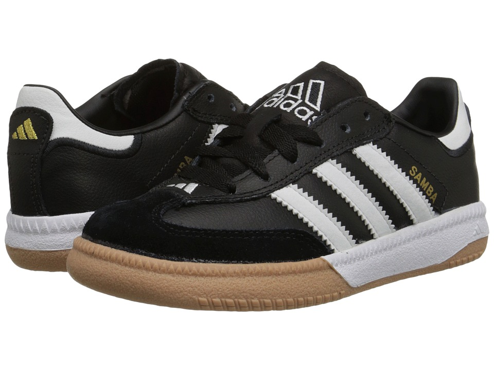 adidas Kids Samba Millennium Core (Little Kid/Big Kid) (Black/Running White) Kids Shoes