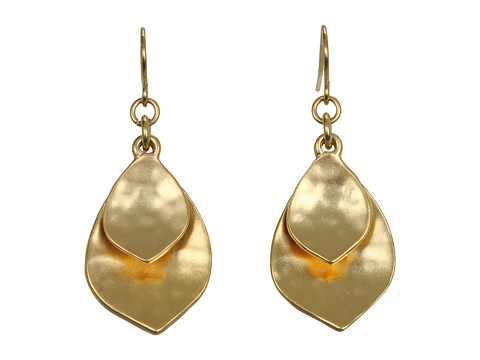 LAUREN Ralph Lauren Hammered Double Teardrop Earrings - Gold