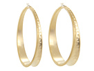 LAUREN Ralph Lauren - Enlarge Hammered Hoops (Gold)